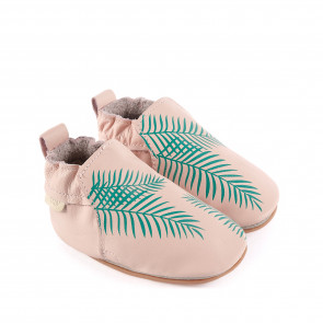 RIO | Exotic Leaf - Pastel Pink Leather