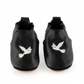 CARLIJNQ HAGEN DOVE | Dove | Black Leather