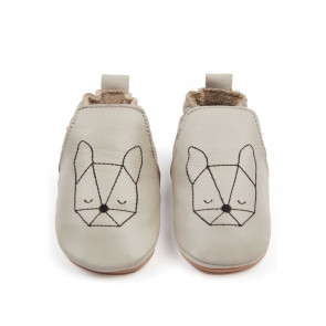 DUBI | Pale Grey Leather / Bunny