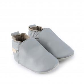 HAGEN   Blue Grey Leather